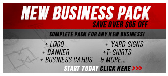 New Business start-up marketing and Printing, Signage & Marketing