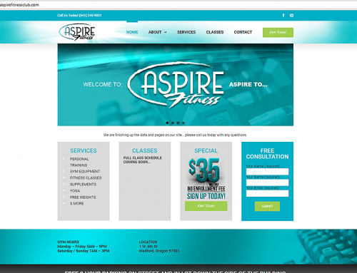 Aspire Fitness Website