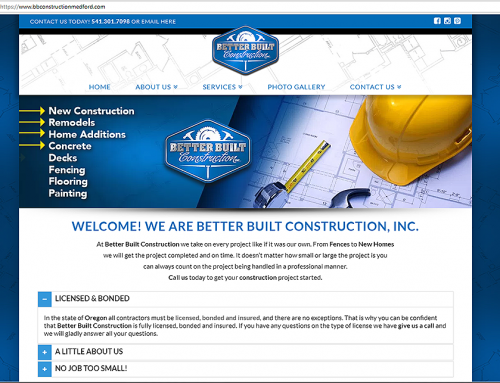 Better Built Construction Website