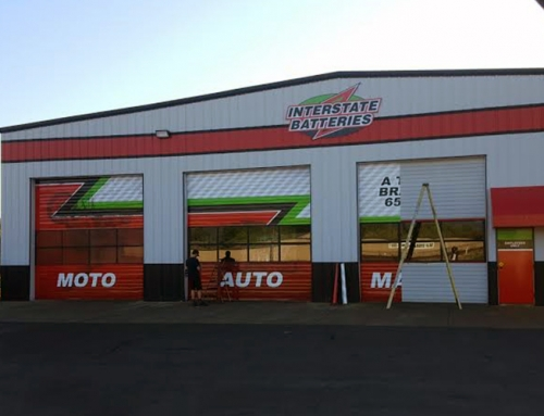 Interstate Battery Building Wrap