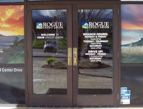 Credit Union Door Signage