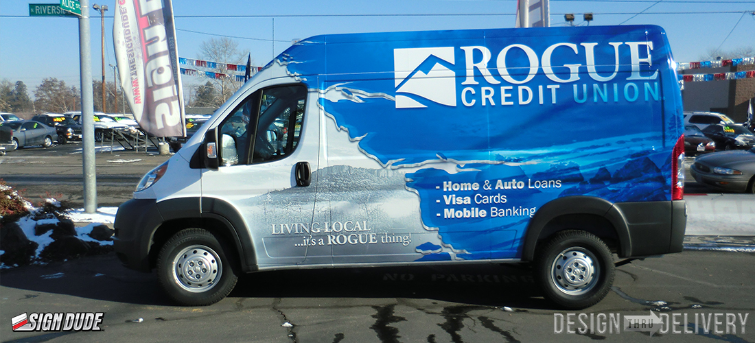 Rogue Credit Union Sprinter Van The Sign Dude