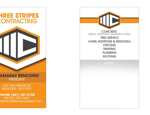 Three Stripes Construction Logo & Brand Design