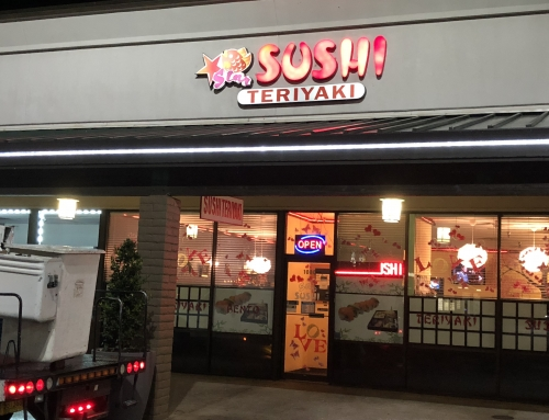 Star Sushi Teriyaki Sign