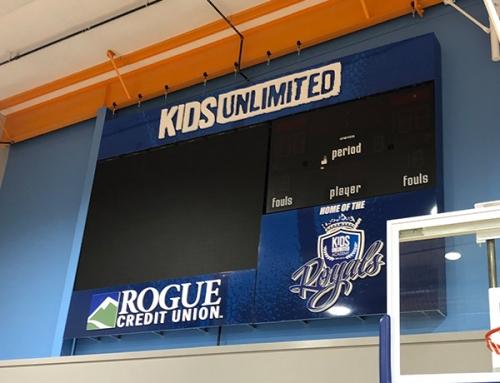 Scoreboard Sponsor Sign