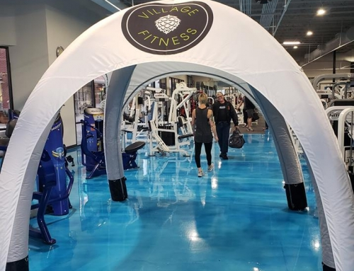 Village Fitness Event Tent Display