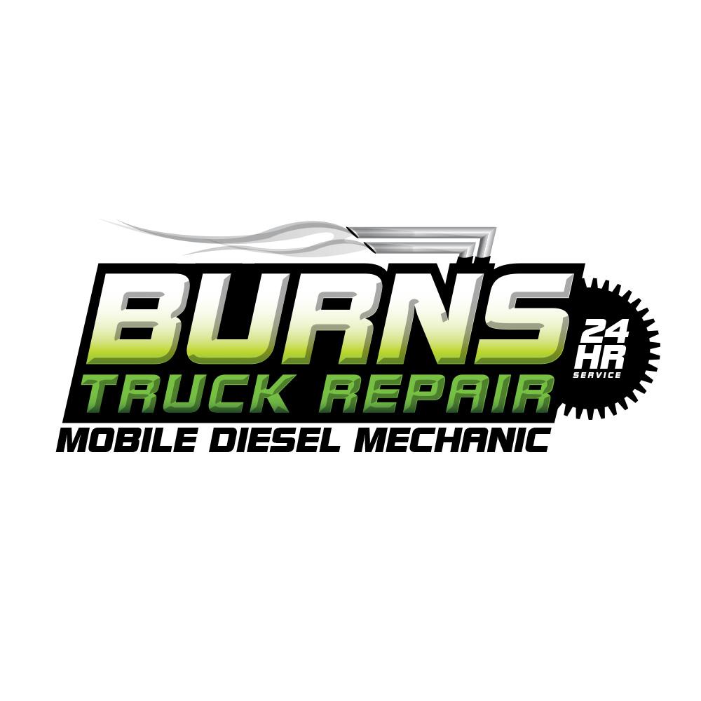 Burns truck repair logo