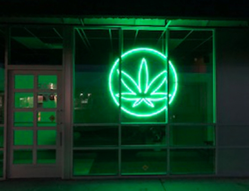 Neon Marijuana Sign