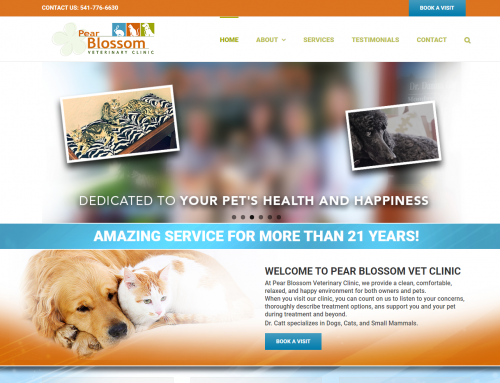 Pear Blossom Veterinary Website Design