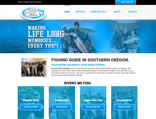 Joel's Fishing Guide Service Website