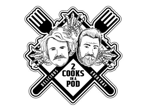 2 Cooks in a Pod Logo Design