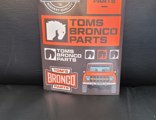 Toms Bronco Parts Sticker Sheet