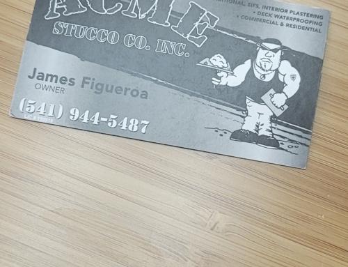 Acme Stucco Business Cards