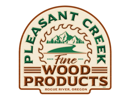 Pleasant Creek Wood Products Logo Design